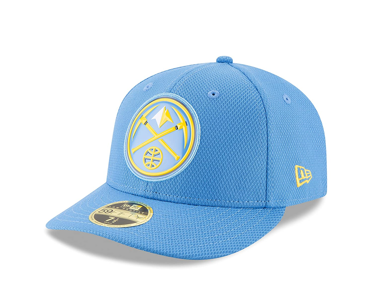 new arrival 1cf8a 1ad63 Amazon.com   NBA Denver Nuggets Adult Bevel Team Low Profile 59FIFTY Fitted  Cap, 7 1 2, Blue   Sports   Outdoors