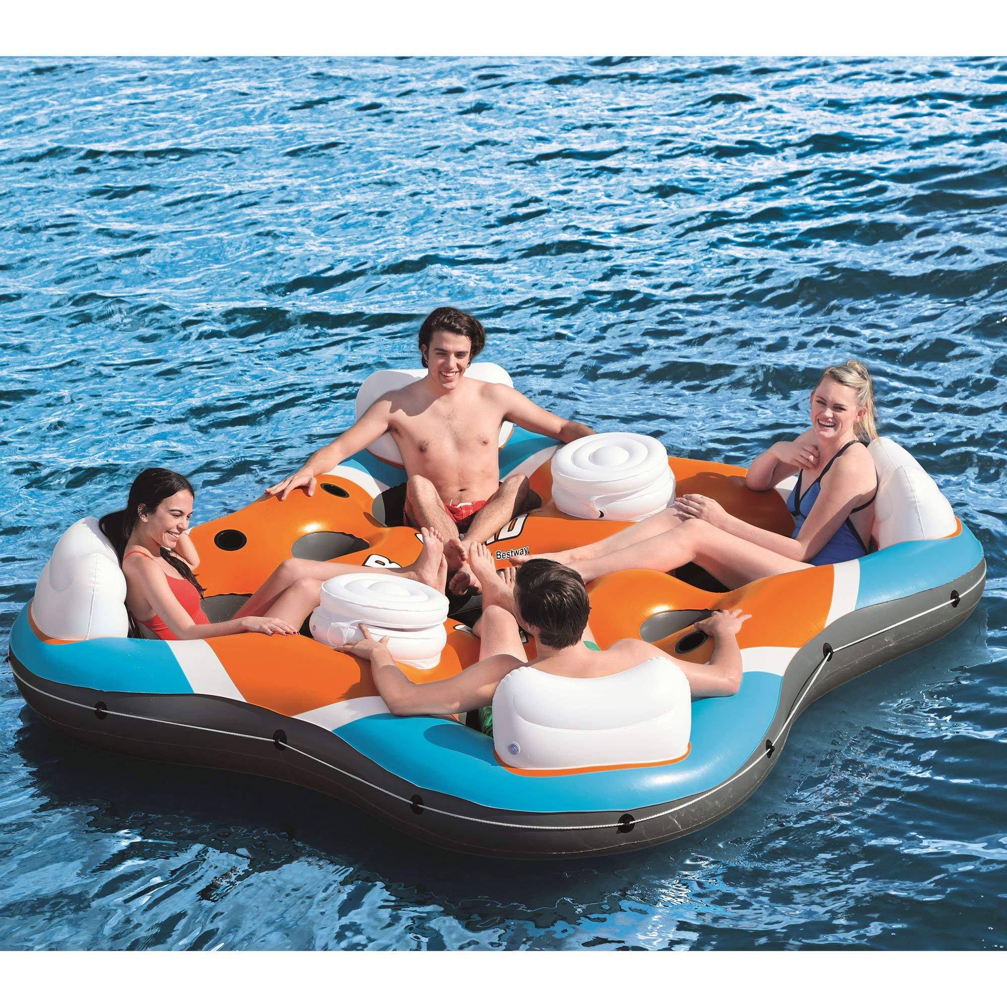 CoolerZ Rapid Rider X4 Inflatable 4-Person Island Tube by Bestway (Image #10)