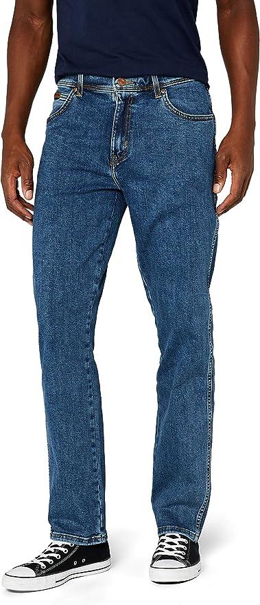 Indigo Wit Wrangler Texas Stretch Authentic Straight Mens Jeans