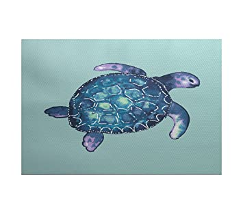 E Von Design Ran465bl29 35 Sea Turtle Animal Print Indoor Outdoor