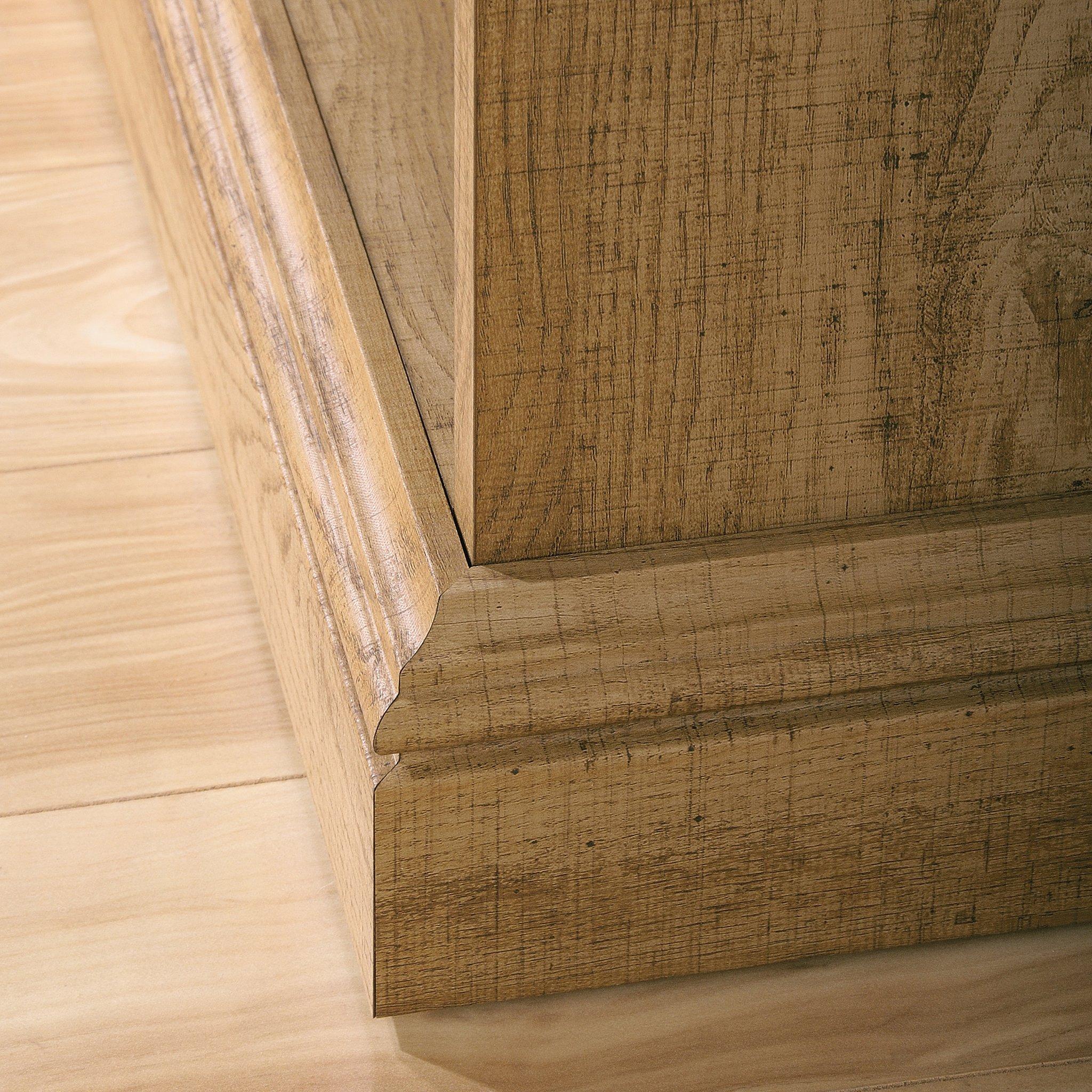 Sauder 414725 Barrister Lane Bookcase, L: 35.55'' x W: 13.50'' x H: 75.04'', Scribed Oak finish by Sauder (Image #9)