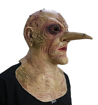 DylunSky Nuevo estilo Halloween Máscara de terror de nariz larga Scary Zombie Látex Máscara