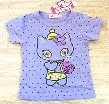 Vêtements Enfant Bébé - T-Shirt Violet - Chat - Paillettes ...