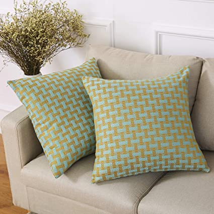 Madizz Throw Pillow Cases Cushion Covers 18x18 Set Of 2 Pack Decorative For  Home Living Room