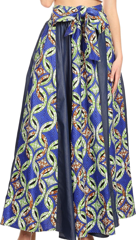 African wax print skirt gathered skirt maxi skirts