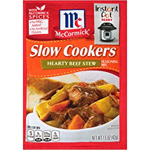 McCormick Slow Cookers Hearty Beef Stew Seasoning Mix, 1.5 oz (Pack of 12)