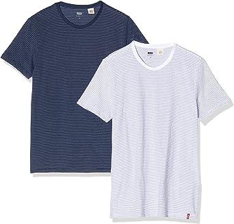 TALLA S. Levi's Slim 2pk Crewneck 1 Camiseta (Pack de 2) para Hombre