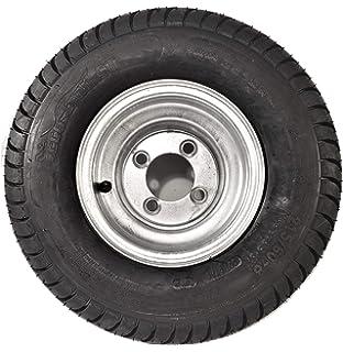 Trailer Tire On Rim 205D14 F78-14 ST 5 Lug Bolt Wheel White Modular