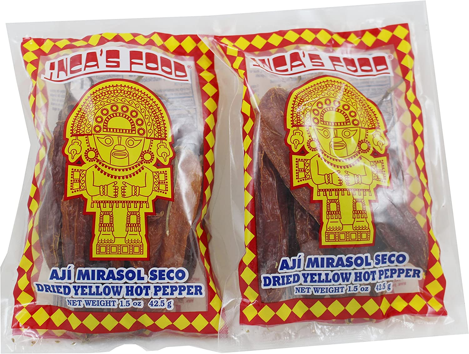 Inca's Food Dried Yellow Hot Pepper, 1.5 Oz from Peru - 2 Pack.