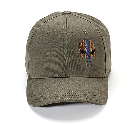 4fa88ea9 Amazon.com: Police Thin Blue Line Spartan Helmet Cap (OD Green): Sports &  Outdoors