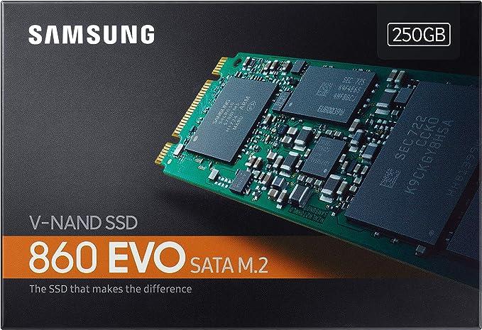 Samsung V-Nand SSD 860 EVO SATA M.2, 250 GB, 550 MB/s Seq Read ...