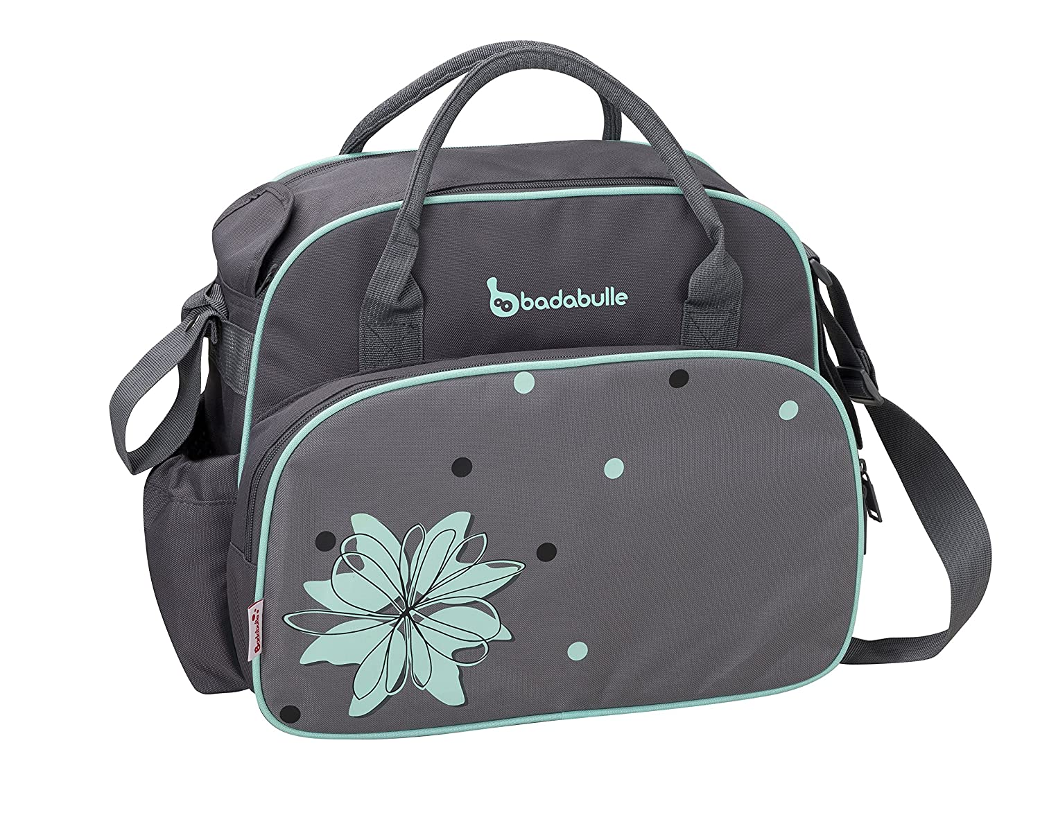 Badabulle Vintage Baby Changing Bag (Grey/Blue) B043014