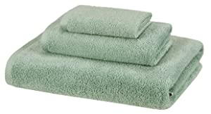 AmazonBasics 3 Piece Cotton Quick-Dry Bath Towel Set - Seafoam Green