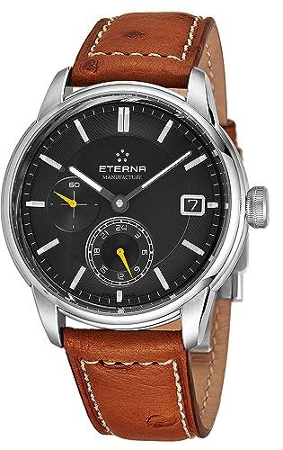 Eterna Reloj de Hombre automático Correa de Cuero Color marrón 7661-41-56-1352: Amazon.es: Relojes