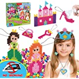 Kids DIY Water Fuse Non Iron Super Beads Girls Arts and Crafts Toy Set. Girls Indoor Activity Fun Project Little…