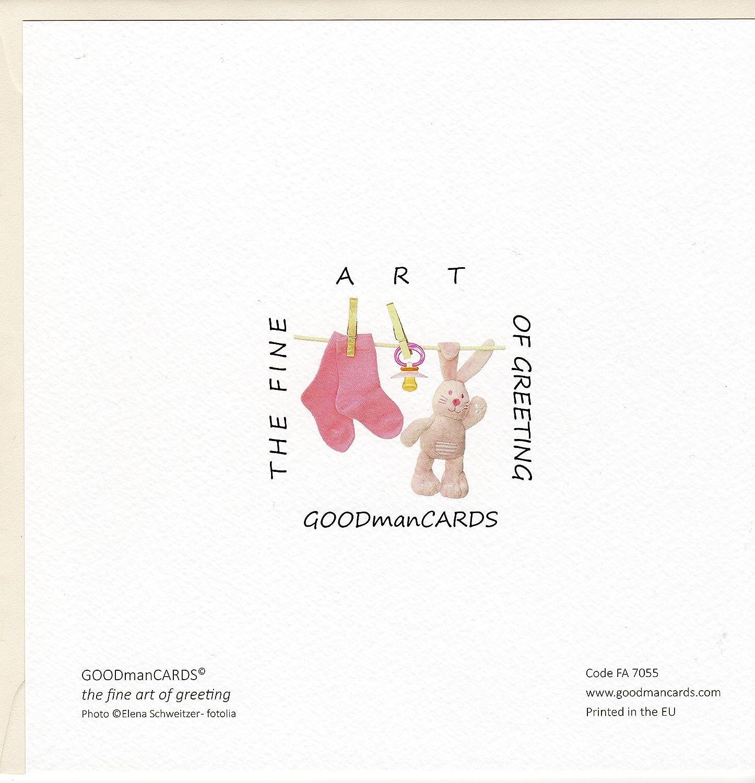 'Fine Art tarjeta de felicitación para nacimiento
