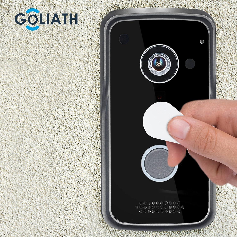 Goliath WiFi IP Videoportero Timbre Interfono, Exterior Estación con cámara de 1 Mpx, RFID, PoE, conexión inalámbrica, apertura de puerta de función, ...