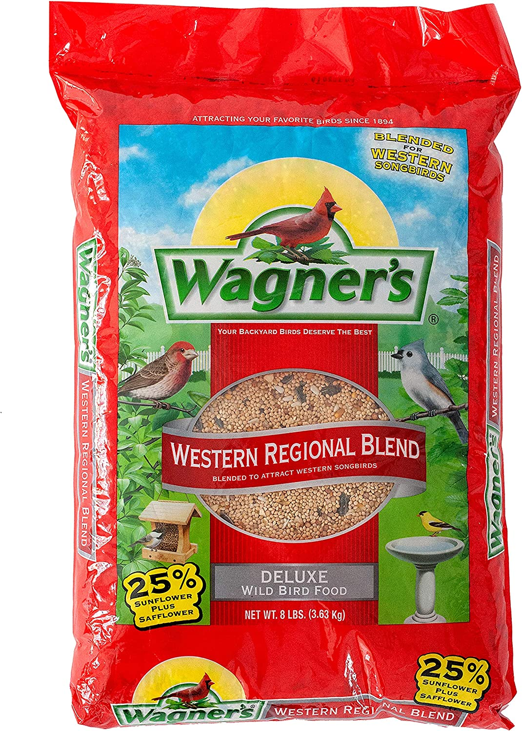 Wagner's 62013 Western Regional Blend Wild Bird Food, 8-Pound Bag