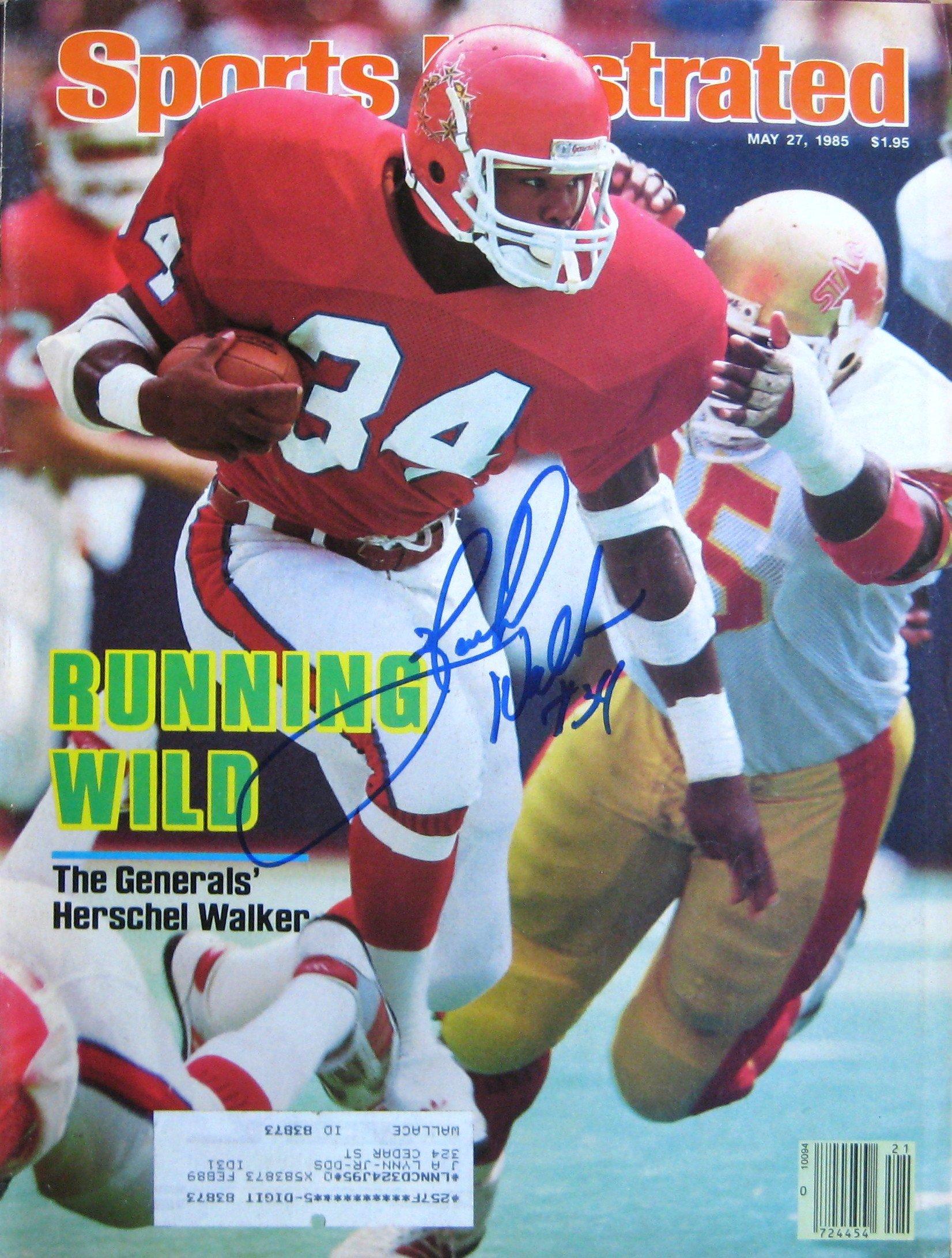 Walker, Herschel 5/27/85 autographed magazine