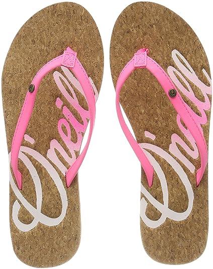b28ff9e0f44 O Neill Women s Fw Logo Cork Flip Flops  Amazon.co.uk  Shoes   Bags