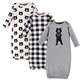 Yoga Sprout Unisex Baby Cotton Gowns, Bear