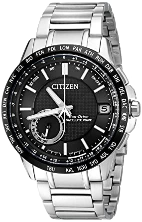 034a6355ddd Citizen Men s Eco-Drive Satellite Wave World Time GPS Watch with Day Date
