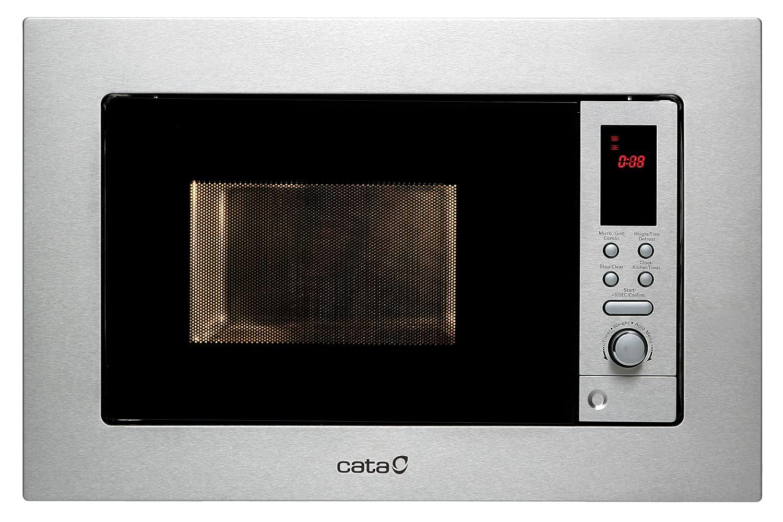 CATA MC 20 D Microondas de integración, 800 W, 20 litros, Acero Inoxidable