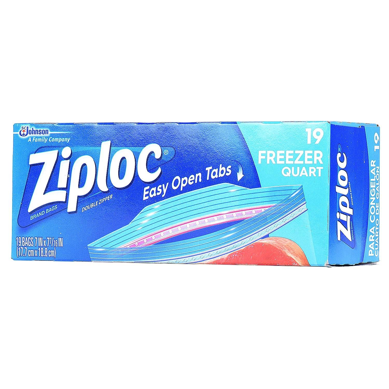 Ziploc Freezer Bags, Quart, 19 ct