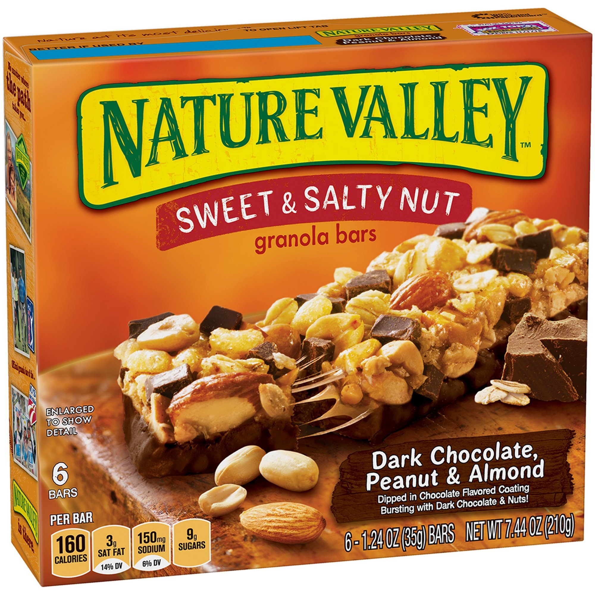 Nature Valley Granola Bars, Sweet and Salty Nut, Dark Chocolate Peanut & Almond, 6 Count - 1.2 oz