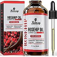 Kanzy Nyponolja för Ansikte 120ml 100% Ren Organisk Kallpressad Rosehip Seed Oil Naturlig, Återfuktande, Aärande och…