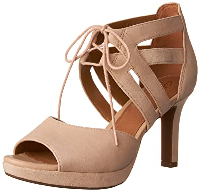 293f15e0046 CLARKS Women s Mayra Ellie Nude Suede Sandal