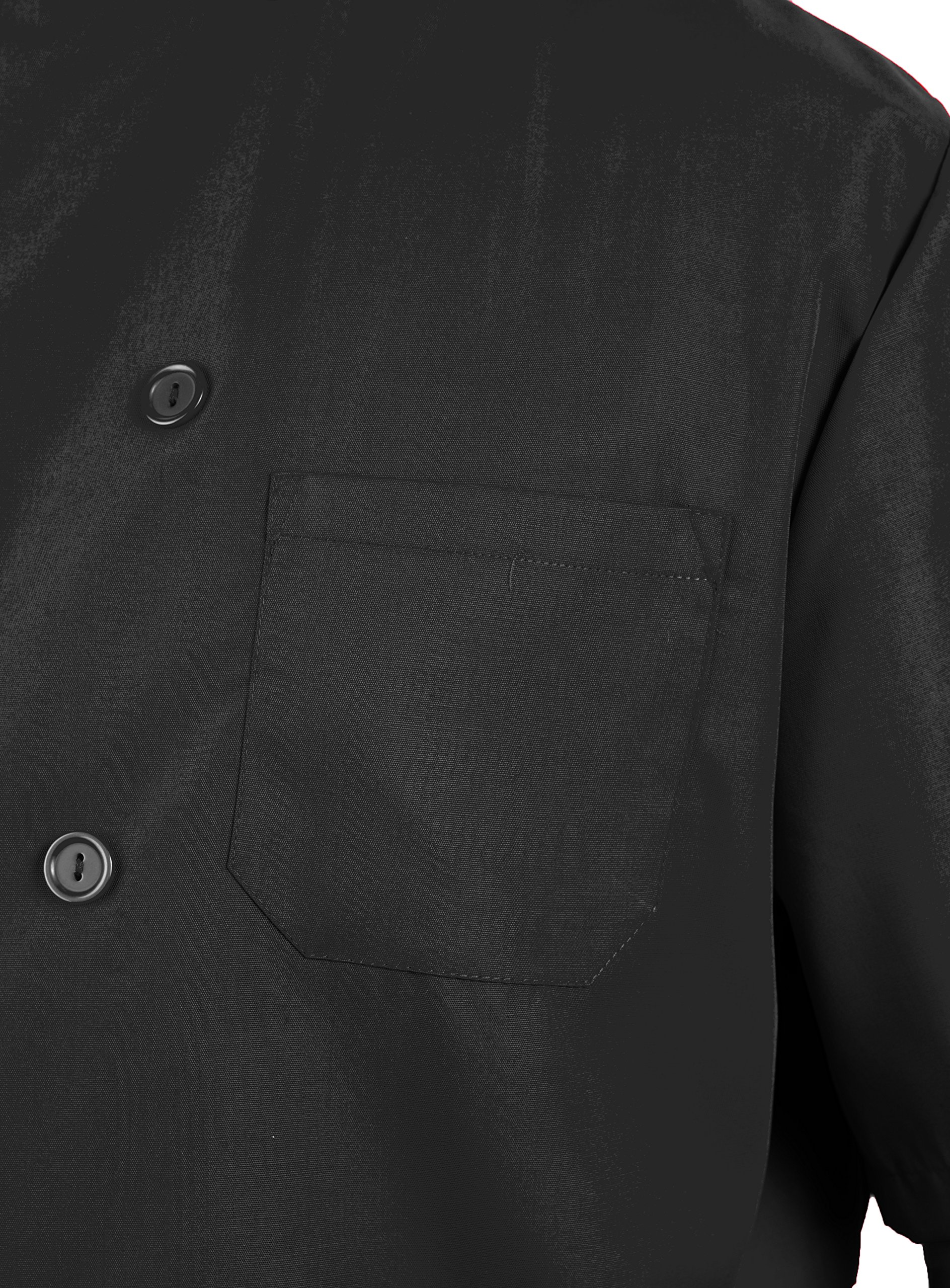 KNG Black Lightweight Short Sleeve Chef Coat by KNG (Image #4)