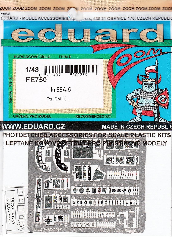 (EDPFE750) - Eduard Photoetch (Zoom) 1:48 - JU 88A-5 (ICM48232)