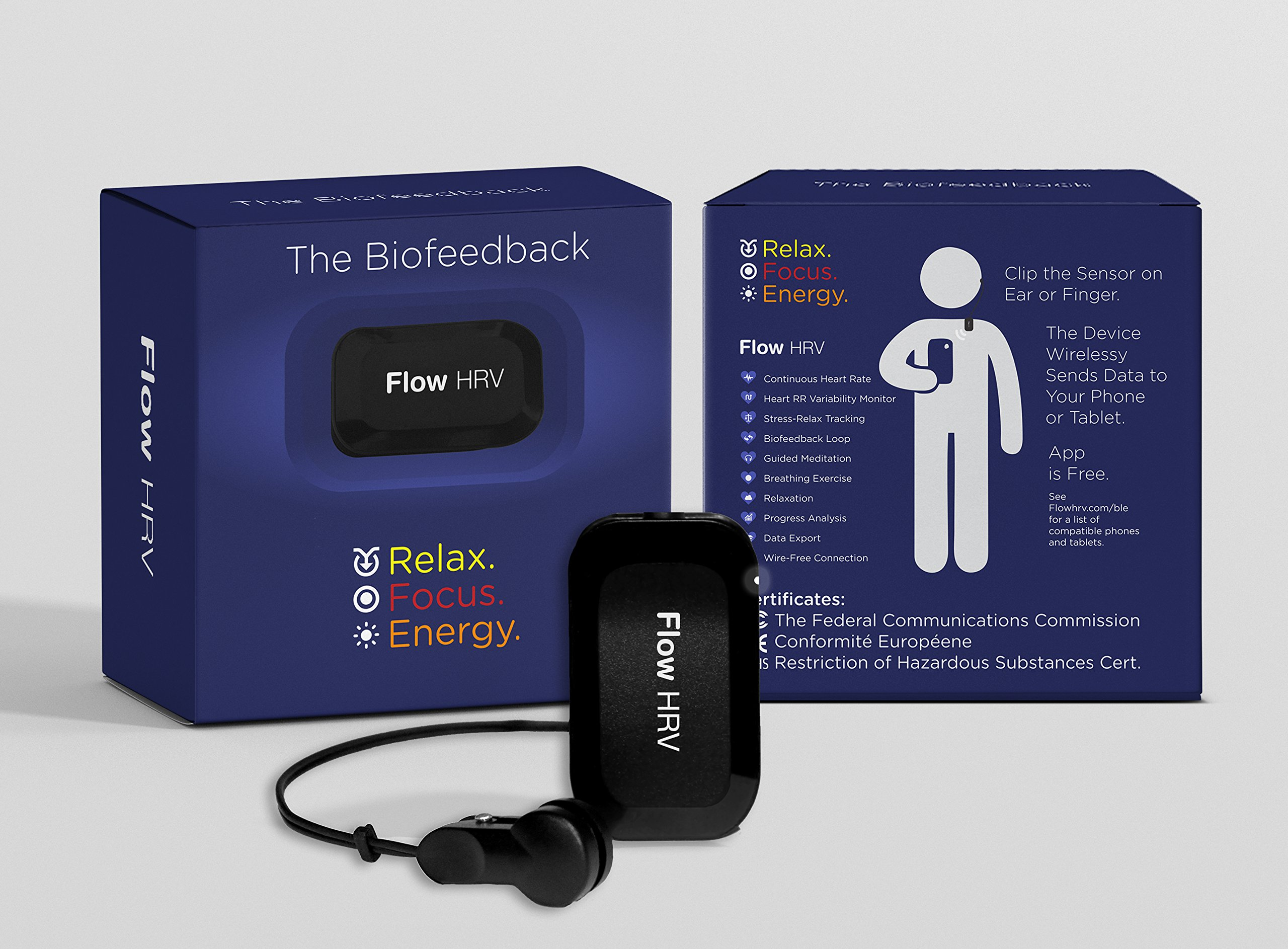 Flow HRV: Biofeedback Wireless Android Device & Games for Meditation, Relaxation and Focus Traning