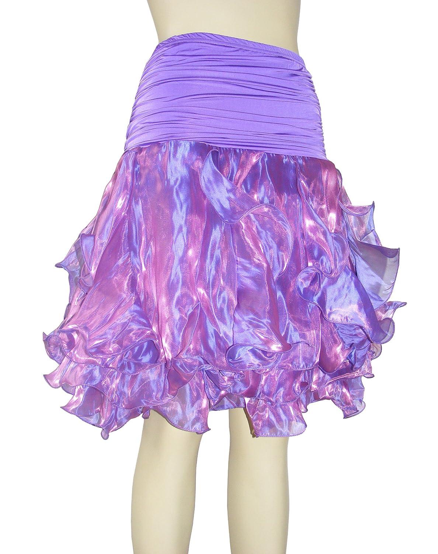 ed3d95aeda Amazon.com  women salsa tango Ballroom Latin Dance Skirt-Purple  Clothing