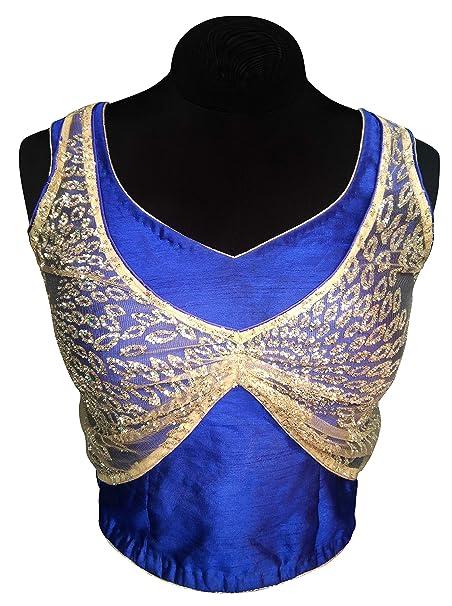 Ldoff Women S Blue Paan Sheap Nack Choli Cut Coat Shead