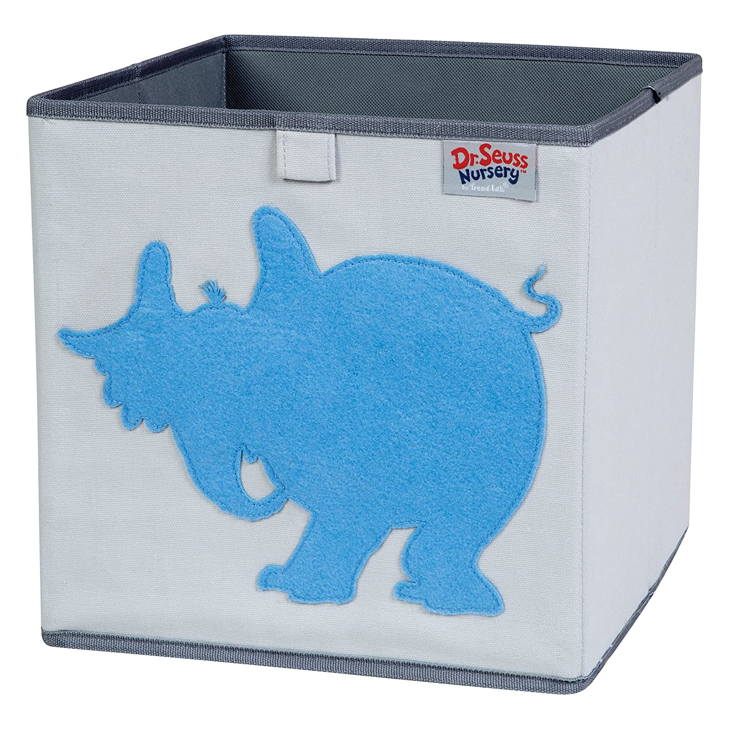 Trend Lab Dr. Seuss Horton Storage Bin, Blue/Gray 30613