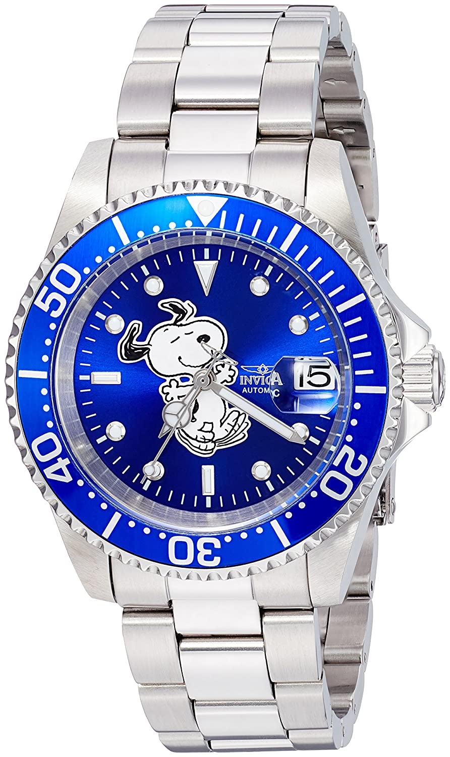 Amazon.com: Invicta Mens Automatic-self-Wind Watch with Stainless-Steel Strap, Silver, 14 (Model: 24783: Watches