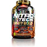 MuscleTech NitroTech Whey Gold, 100% Pure Whey Protein, Whey Isolate and Whey Peptides, Double Rich Chocolate, 5.5 Pounds