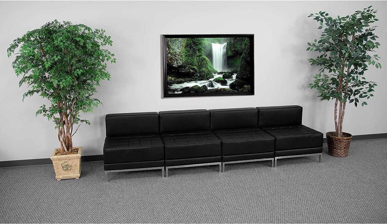Flash Furniture Black Leather Lounge Set, 4 PC, 112