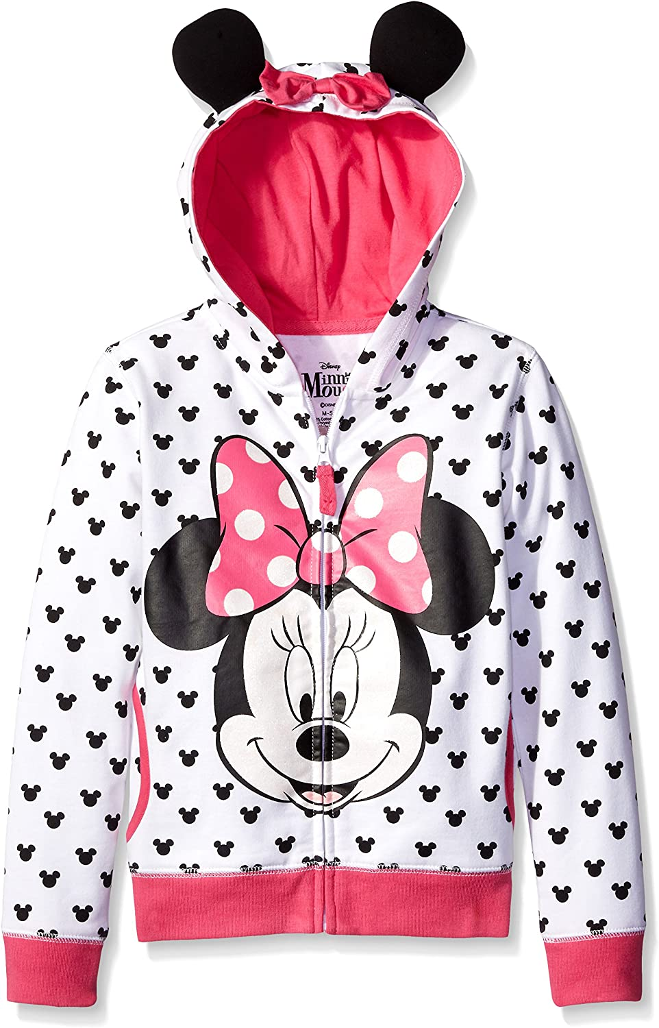 Disney Girls Minnie Hoodie with Bow and Ear