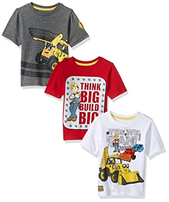 02115b9b4 Amazon.com: Bob the Builder Toddler Boys Graphic T-Shirt (Pack of 3 ...