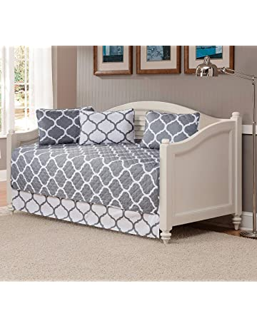 c7da90265667 Fancy Collection 5pc DayBed Quilted Bedspread Coverlet Set Modern Geometric  Grey White New