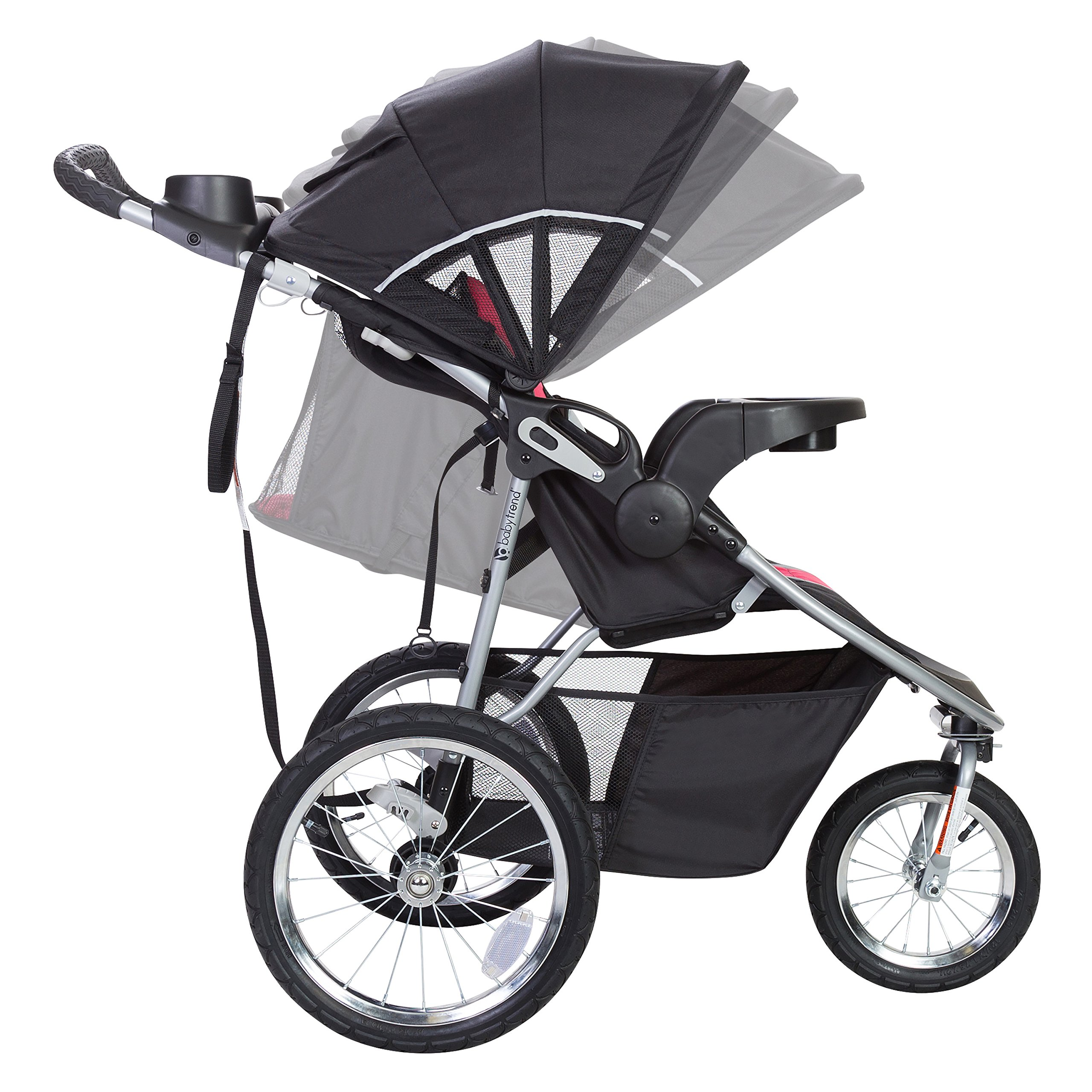 Baby Trend Pathway 35 Jogger Stroller, Optic Pink by Baby Trend (Image #4)