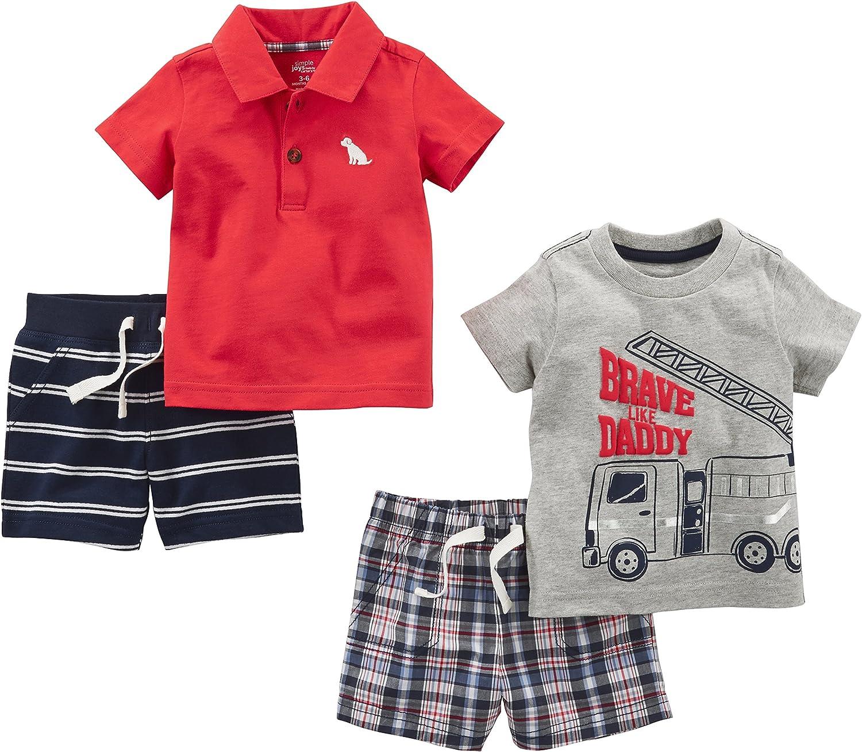 Simple Joys by Carters Baby Boys 4-Piece Playwear Set