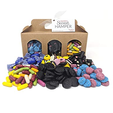 Liquorice Hamper Box - Perfect Sweet Gift for Valentine's, Easter, Mother's Day, Birthdays