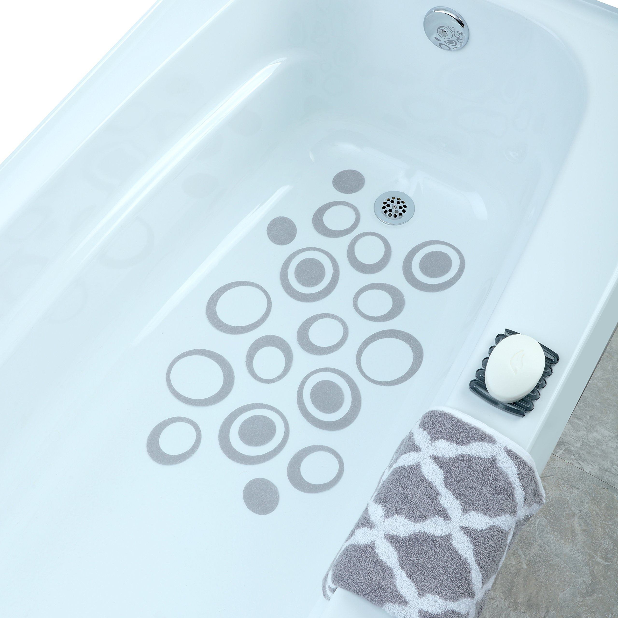 Bathtub Treads Non Slip Applique Feet Grip Stickers Shower Safety ...