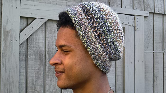 bf6ff4f2fc13b Image Unavailable. Image not available for. Color  Crochet Slouchy Hat