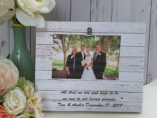 Amazoncom Personalized Wooden Wedding Picture Frame Photo Frame
