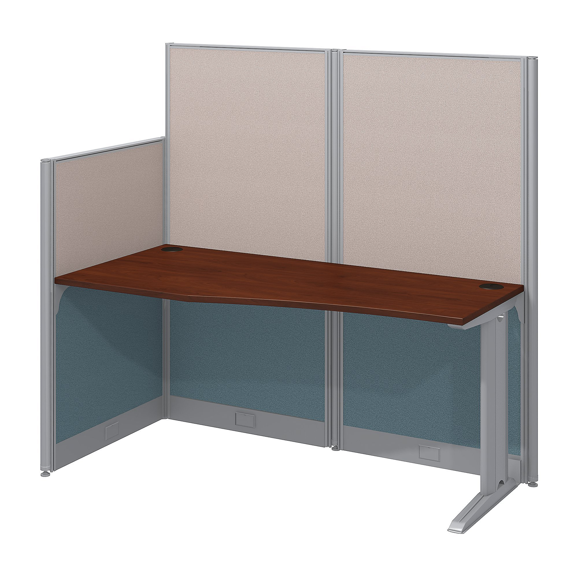 Bush Business Furniture Office in an Hour 65W x 33D Cubicle Workstation in Hansen Cherry by Bush Business Furniture